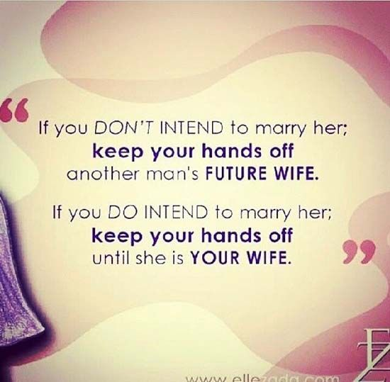 If You Don T Intend To Marry Her Study Islam